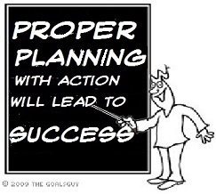 Proper Planning with Action will lead to Success with Weight Loss